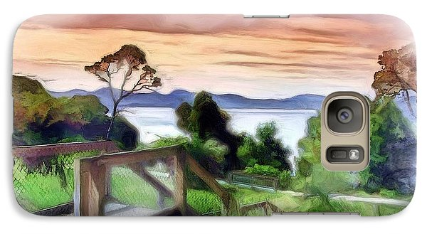 Galaxy Case featuring the photograph Do-00272 Look Out From Sarah Island by Digital Oil