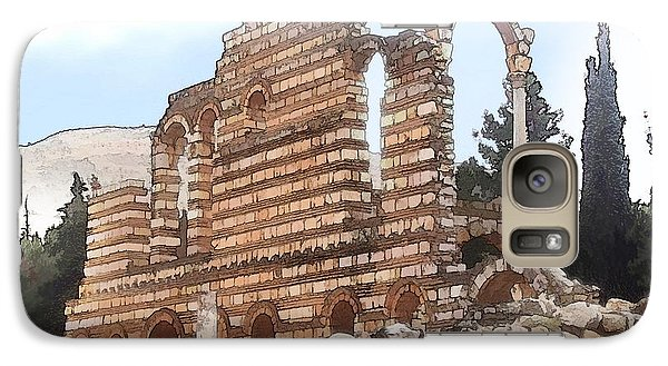Galaxy Case featuring the photograph Do-00302 Ruins In Anjar by Digital Oil