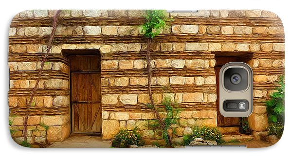 Galaxy Case featuring the photograph Do-00305 Old Hutt In Anjar by Digital Oil
