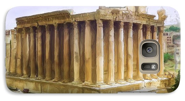 Galaxy Case featuring the photograph Do-00312 Temple Of Bacchus In Baalbeck by Digital Oil