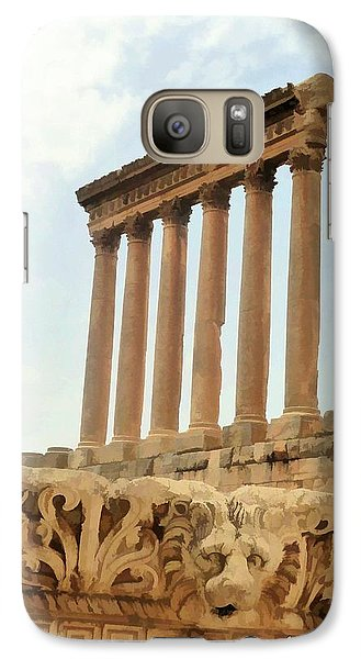 Galaxy Case featuring the photograph Do-00314 The 6 Corinthian Columns In Baalbeck by Digital Oil
