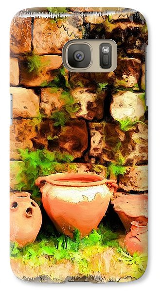 Galaxy Case featuring the photograph Do-00348 Jars In Byblos by Digital Oil