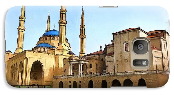 Galaxy Case featuring the photograph Do-00362al Amin Mosque And St George Maronite Cathedral by Digital Oil