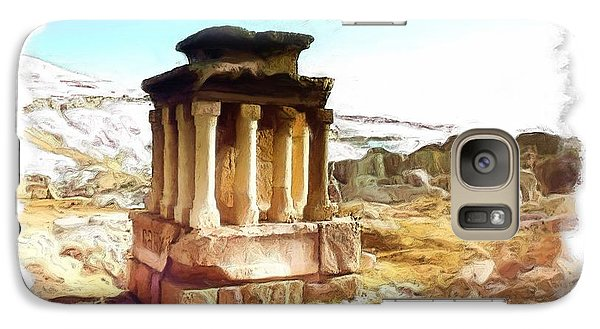 Galaxy Case featuring the photograph Do-00432 The Temple Of Faqra by Digital Oil