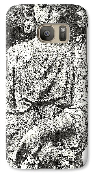 Galaxy Case featuring the mixed media Do Angels Look Sad  by Fine Art By Andrew David