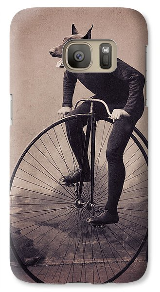 Bicycle Galaxy S7 Case - Doberman Velocipede by Aged Pixel