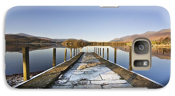 Galaxy Case featuring the photograph Dock In A Lake, Cumbria, England by John Short