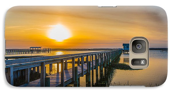 Galaxy Case featuring the photograph Docks At Sunset I by Steven Ainsworth