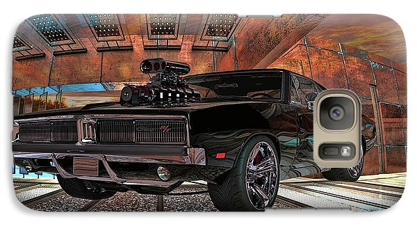 Galaxy Case featuring the photograph Dodge Charger R/t 1969 Hemi by Louis Ferreira