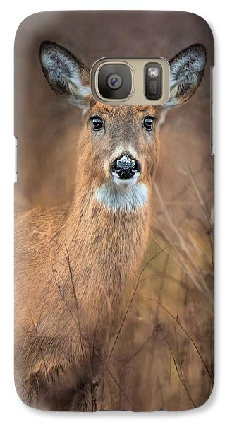 Galaxy Case featuring the photograph Doe A Deer by Robin-Lee Vieira