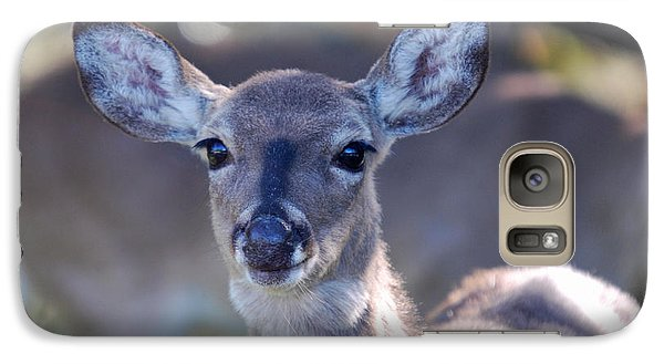 Galaxy Case featuring the photograph Doefaced by Teresa Blanton