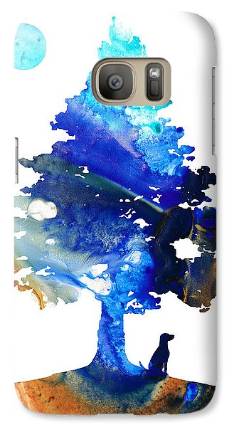 Dog Art - Contemplation - By Sharon Cummings Galaxy S7 Case