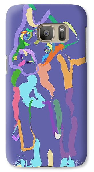 Galaxy Case featuring the painting Dog Cookie by Go Van Kampen