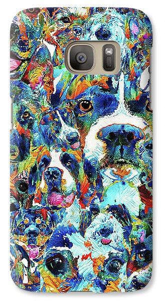 Galaxy Case featuring the painting Dog Lovers Delight - Sharon Cummings by Sharon Cummings