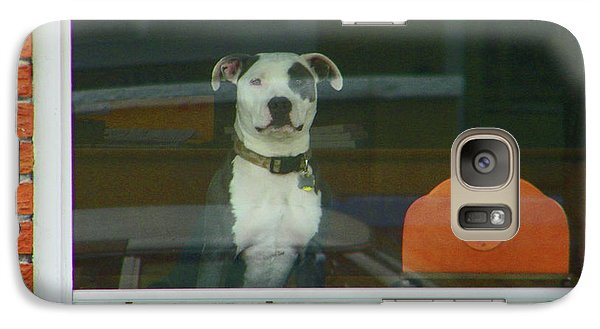 Galaxy Case featuring the photograph Doggie In The Window by Lenore Senior