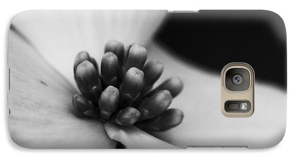 Galaxy Case featuring the photograph Dogwood In Black And White by Bob Decker