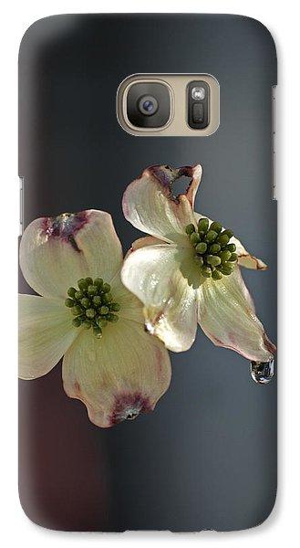 Galaxy Case featuring the photograph Dogwood Tear by Elsa Marie Santoro