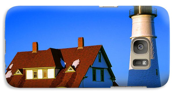 Galaxy Case featuring the photograph Dollhouse Portland Head Light by Olivier Le Queinec