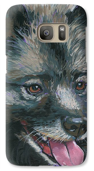 Galaxy Case featuring the painting Dollie by Nadi Spencer