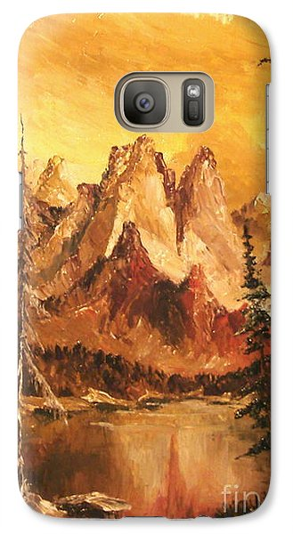 Galaxy Case featuring the painting Dolomiti by Sorin Apostolescu