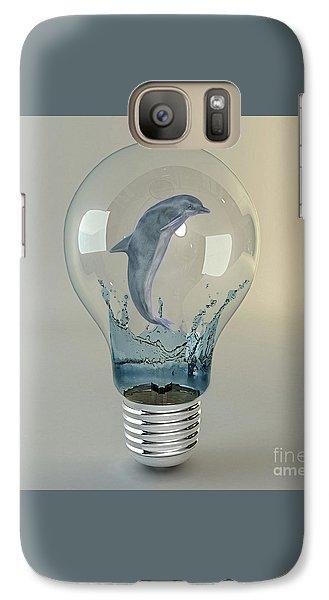 Dolphin Play Galaxy Case by Marvin Blaine