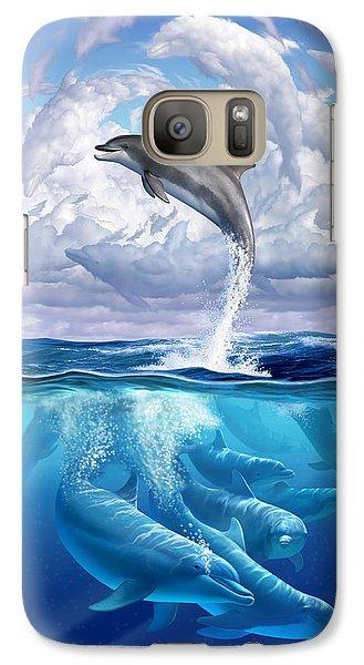 Beach Galaxy S7 Case - Dolphonic Symphony by Jerry LoFaro