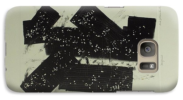 Galaxy Case featuring the mixed media Dominos by Erika Chamberlin
