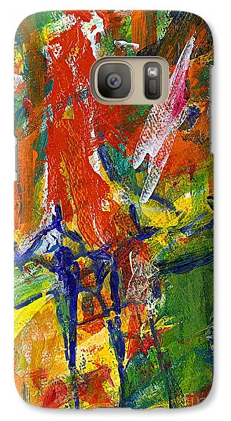 Galaxy Case featuring the painting Don Quichotte by Jan Daniels