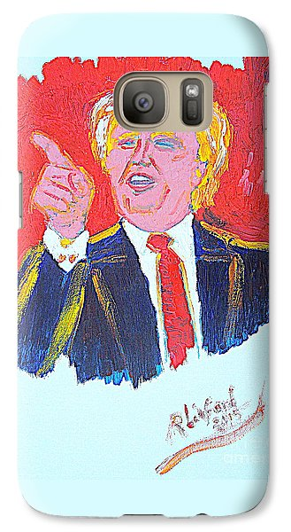 Galaxy Case featuring the painting Donald Trump You Are Great America Is Great  by Richard W Linford