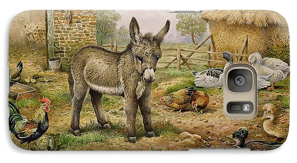 Donkey And Farmyard Fowl  Galaxy S7 Case by Carl Donner