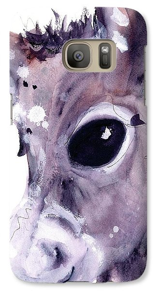Galaxy Case featuring the painting Donkey by Dawn Derman