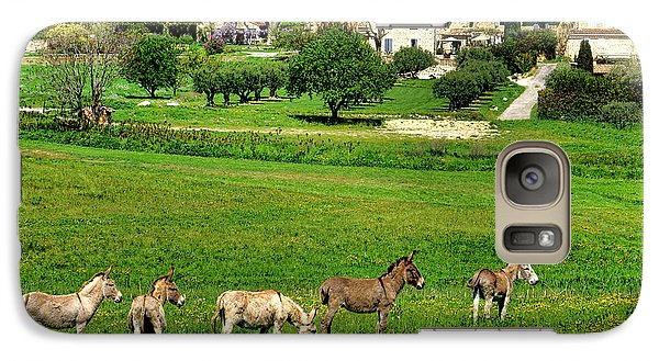 Galaxy Case featuring the photograph Donkeys In Provence by Olivier Le Queinec