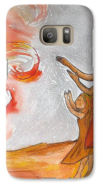 Galaxy Case featuring the painting Don't Be Afraid by Gioia Albano