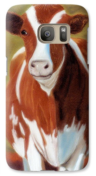 Galaxy Case featuring the pastel Don't Call Me Bossy by Jan Amiss