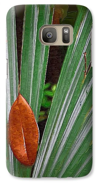 Galaxy Case featuring the photograph Don't Leaf by Donna Bentley