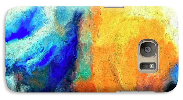 Galaxy Case featuring the painting Don't Look Down by Dominic Piperata