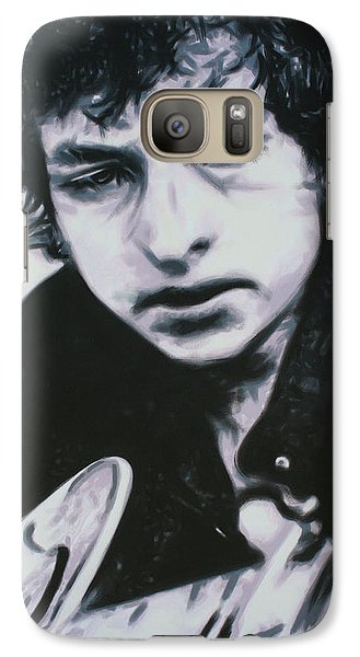 Galaxy Case featuring the painting Dont Think Twice, Its Alright by Luis Ludzska
