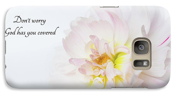 Galaxy Case featuring the photograph Don't Worry by Mary Jo Allen