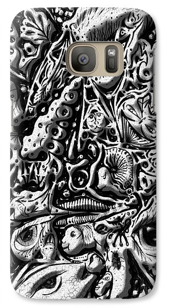 Galaxy Case featuring the digital art Doodle Emboss by Darren Cannell