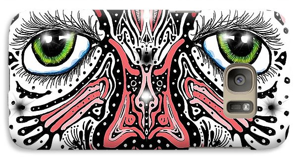 Galaxy Case featuring the digital art Doodle Face by Darren Cannell