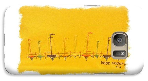 Galaxy Case featuring the mixed media Door County Sail Boats by Marsha Heiken