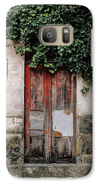 Galaxy Case featuring the photograph Door Covered With Ivy by Marco Oliveira