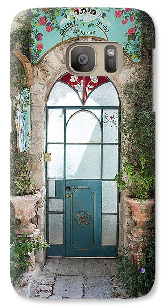 Galaxy Case featuring the photograph Door Entrance To The Art by Yoel Koskas