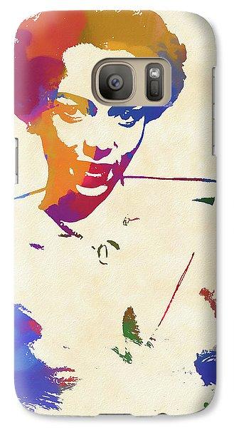 Dorothy Dandridge Watercolor Galaxy S7 Case