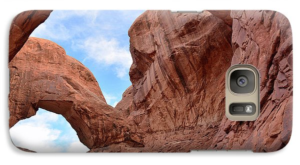 Galaxy Case featuring the photograph Double Arch With Curves by Bruce Gourley