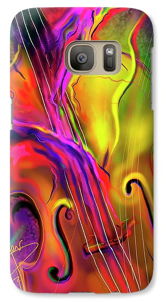 Galaxy Case featuring the painting Double Bass Solo by DC Langer