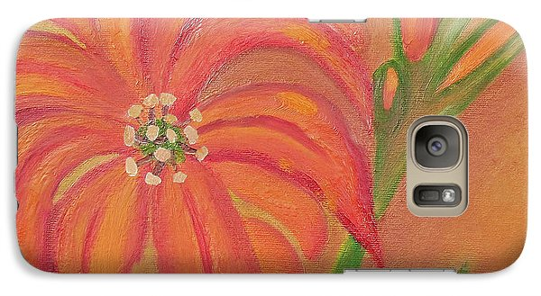 Galaxy Case featuring the painting Double Headed Orange Day Lily by Margaret Harmon
