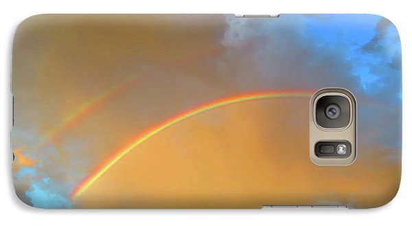 Double Rainbows In The Desert Galaxy S7 Case