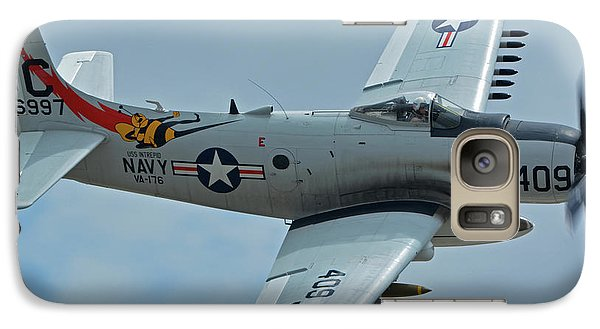 Galaxy Case featuring the photograph Douglas A-1d Skyraider Nx409z Chino California April 30 2016 by Brian Lockett