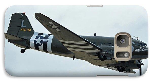 Galaxy Case featuring the photograph Douglas C-47b Dakota N791hh Willa Dean Chino California April 30 2016 by Brian Lockett